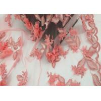 Buy cheap Water Soluble Orange Mesh Lace Fabric Embroidery Small Flower For Dress from wholesalers