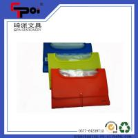Buy cheap Plastic Eco-Friendly Foldable File With Elastic File Bag from wholesalers