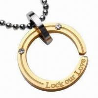Buy cheap Pendant Necklaces, Stainless Steel Pendant, Titanium Pendant, Plating Gold product