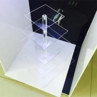 Buy cheap clear acrylic 5 tier square cake display racks cupcake stand for birthday cake display rac from wholesalers
