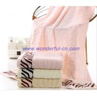 Buy cheap 2016 Hot sale pretty Jacquard zebra textured bath towels from wholesalers