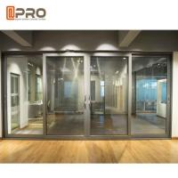 Buy cheap Customized Tempered Aluminium Double folding Sliding Doors With Single Double Glass screen patio door detail from wholesalers