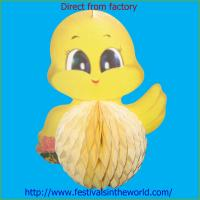 Buy cheap hot sale tissue paper honeycomb new paper crafts easter decorations easter duck from wholesalers