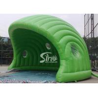 Buy cheap 30 x 21 ft half moon display promotion green inflatable tent made of best pvc tarpaulin from wholesalers