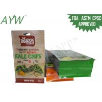 Buy cheap Flat Bottom Custom Printed Food Bags S / M Size With Reusable Zip Lock from wholesalers