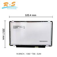 Buy cheap AUO 14 Inch 40 Pin Slim lvds  TFT Lcd Screen  B140XTN02.3 1366*768 Lcm For Laptop from wholesalers