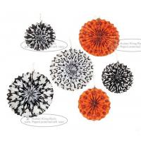 Buy cheap Hallowmas Paper Fan Round Folding Fans Hanging Party Home Decorations from wholesalers