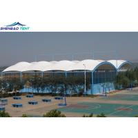 Buy cheap High Tensile Membrane Structures / Single Ridge Swimming Pool Roof from wholesalers