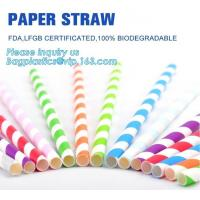 Buy cheap biodegradable paper drinking straw, paper for paper straw, disposable paper straw,Bendy Flexible Paper Straws For Drinki from wholesalers