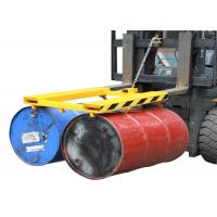 Buy cheap Horizontal Double Drum Grabber Forklift Attachment 900KG Load Capacity Forklift Drum Lifter from wholesalers