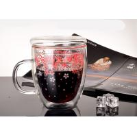 Buy cheap Flower Decals Double Wall Thermo Glasses , Cappuccino Double Walled Latte Glasses from wholesalers