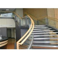 Buy cheap Prefab Apartment Building Curved Stairs Clear Finish , Arc Shaped from wholesalers
