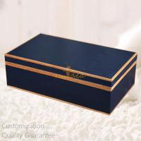 Buy cheap Luxury High Gloss Marine Blue Personalized Wooden Gift Box for Perfumes, Watches, Wine  , Personalized Logo Brand. product