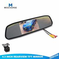 China 4.3 Inch HD 12V/24V Car Rearview Mirror Monitor with Anti-glaring Glass/ reversing camera on sale