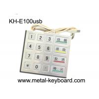Buy cheap 4 4 Design 16 Keys Payment Metal Kiosk keypad with PS2 / USB Interface from wholesalers