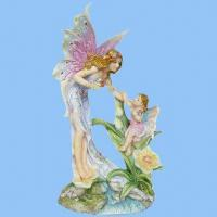 China Polyresin Fairy Family Figurines (Mon and Dau), Best Image for Wedding Souvenirs on sale