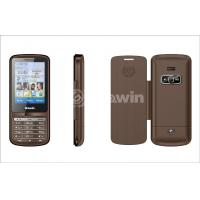 Buy cheap Brown dual sim card phone  , bar cell phone with 850Hz / 900Hz / 1800Hz / 1900MHz from wholesalers