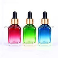 Buy cheap Color Painting Square Essential Oil Glass Bottles With Droppers from wholesalers