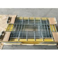 Buy cheap T6 Steel Grating Stair Treads With Yellow Nonskid Nosing Low Carbon Steel from wholesalers