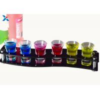China Non - Toxic Acrylic Cocktail Tray , Clear Acrylic Serving Tray Chemical Resisdence on sale