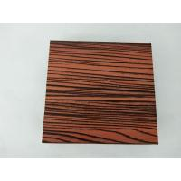 Buy cheap 1.4 Thickness Flat Wood Finish Aluminium Profiles Strong Impact Resistance from wholesalers