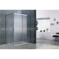 Buy cheap Bright Silver Rectangular Shower Enclosure 8MM Tempered Glass EN12150 For Home / Hotel from wholesalers
