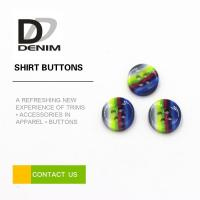 Buy cheap Rainbow Fancy Dress Shirt Buttons Abundant Designs For Clothing Industry from wholesalers
