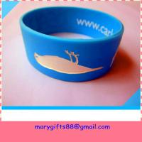 Buy cheap fat design segmented color rubber silicone wrist band from wholesalers