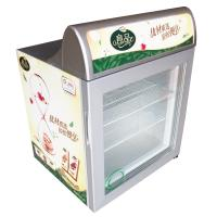 Buy cheap 55L digital thermostat auto commercial display cooler ice cream freezer fridge SD55 with lightbox from wholesalers