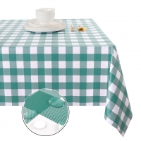 Buy cheap Green Plaid  Plastic Table Cloth from wholesalers
