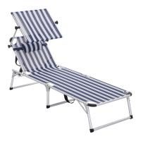 Buy cheap Adjustable Sun Lounge Chair Simple Assembly Space Saving Easy Transportation from wholesalers