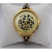 Buy cheap Ladies Leopard Leather Strap Watches Stylish Women Dress Watch With Gold Face from wholesalers