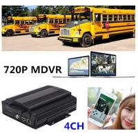 Buy cheap 720P MDVR HDD 4 channel mobile dvr With 3G Real Time Tracking For School Bus from wholesalers