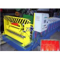 Buy cheap 50Hz Glazed Tile Roll Forming Machine 9-11 Rows Rollers PLC Control System product