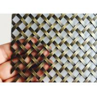 Buy cheap Architectural Brass Plated Decorative Wire Mesh For Cabinetry / Cladding from wholesalers
