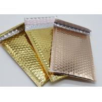 Buy cheap Rose Gold Metallic Bubble Wrap Mailing Envelopes 6x10 Light Weight For Shipping from wholesalers