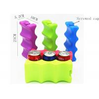 Buy cheap HDPE Plastic 6 Pack Beer Bottle Cold Ice Packs Curved Shape Leak Proof from wholesalers
