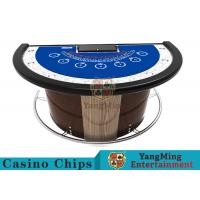Buy cheap Stainless Steel Fender Half Round Poker Table For Blackjack Gambling Game from wholesalers