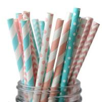 Buy cheap A variety of flower and color mixed color paper straw with spiral wave pattern from wholesalers