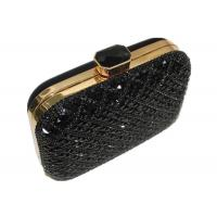 Buy cheap Handmade Crystal Mesh Evening Bags Golden Frame And Acrylic Closure from wholesalers