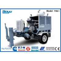 Buy cheap Groove Number 8 Hydraulic Cable Pull machinery 100kN with 118kw Cummins Engine from wholesalers