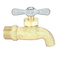 Buy cheap Manual 1/2 DN15 Chrome Plated Faucet Hose Bibcock from wholesalers