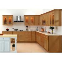 Buy cheap Marble stone Countertop Solid Wood Kitchen Furniture , White Closeout Kitchen Cabinets from wholesalers