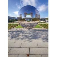 Buy cheap Morden Highly Polished Stainless Steel Sculpture Torus For Lawn Featuring from wholesalers