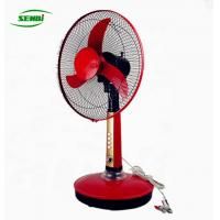 Buy cheap 16inch / 18inch Solar Table Fan Red And Blue Color Environmental Protection from wholesalers