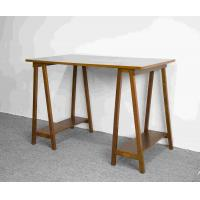 Buy cheap Walnut Solid Wood Home Office Desk Workstation With Desktop Panel from wholesalers