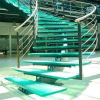 Buy cheap Mono Stringer Stairs / Single Stringer Metal Staircase Prefabricated from wholesalers