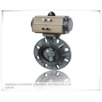Buy cheap General DN50 PVC Pneumatic Butterfly Valve Wafer Connection With 8 Mounting Holes from wholesalers