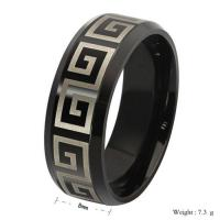 Buy cheap New Unique Titanium steel 18 k gold & black Wholesale Fashion Jewelry Wedding Bands Vintag from wholesalers