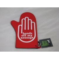 Buy cheap HANDS OFF MY SAUSAGE NOVELTY NEOPRENE BBQ OVEN MITT from wholesalers